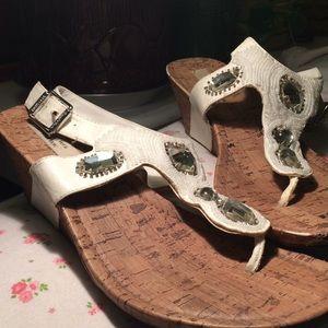 Simply Vera Wang blingy beaded wedge sandals!